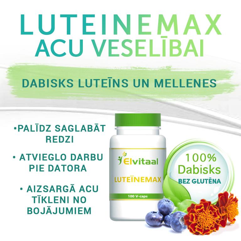 Luteīns un mellenes acu veselībai, vitamīni augstas kvalitātes