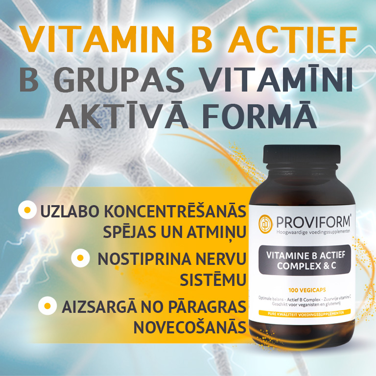 B grupas vitamīni aktīvā formā, vitamīni augstas kvalitātes