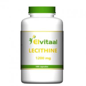 lecitīns, fosfolipīdi, holīns, labai atmiņai, elvitaal lecithine-1200mg